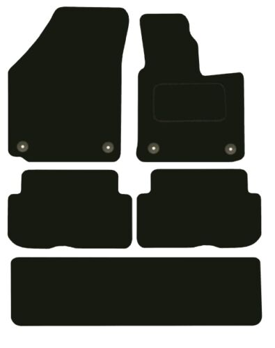 Tailored Deluxe Quality Car Mats Volkswagen Touran 2010 Onwards ** Black ** MPV