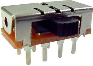 Lot-of-2-Power-Side-Knob-Slide-Switch-3-Positions-1P3T-SP3T-125V-3A