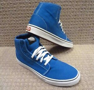 scarpe vans uomo alte blu