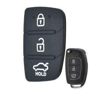 Details About Replacement Rubber Pad Remote Key Cover For Hyundai Tucson Ix35 Elantra I20