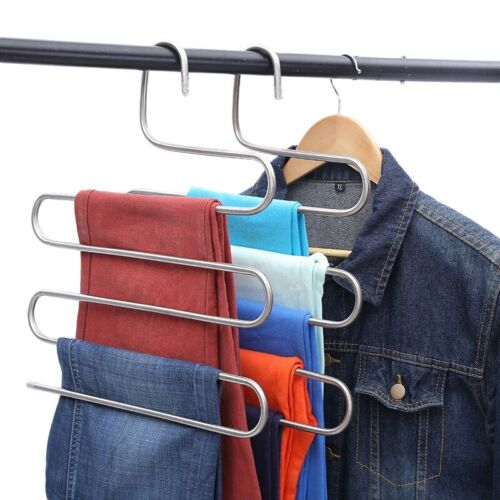 Multilayer Shape Stainless Steel Clothing Storage Racks Clothes Hanger Storage