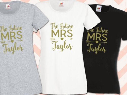 Il cognome Future Mrs Hen Night T Shirts fare festa donna stampata personalizzata