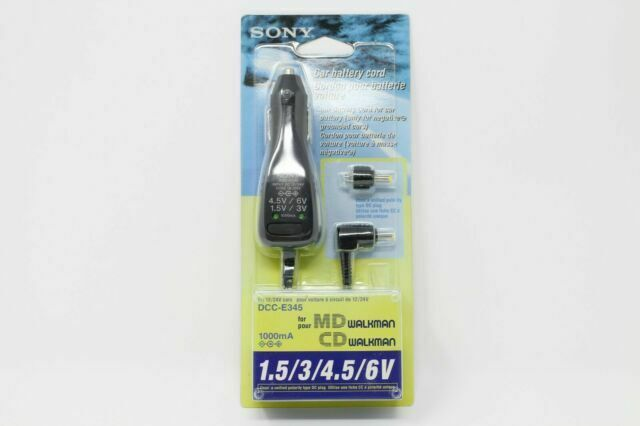 Sony DCC-E345 Car DC Adaptor with Selectable Voltage Switch