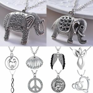 Chic-Elephant-Animal-Love-Heart-Pendant-Necklace-Women-Jewelry-Mother-039-s-Day-Gift
