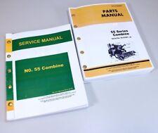 Service Manual For John Deere 55 Combine Repair Parts Catalog Technical Shop