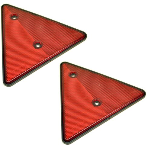 TR051 PAIR Reflective Trailer Triangles Triangular Reflectors
