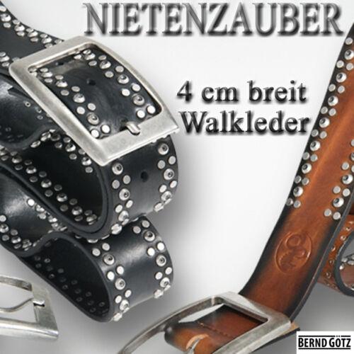 BERND GÖTZ stark reduziert Nietengürtel Vollrindledergürtel Jeansgürtel 402242