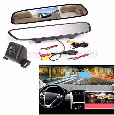4.3'' TFT LCD Monitor Back Up Rear View Camera Night Vision Car Reversing Kit