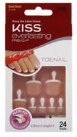(3 Pack) Kiss Everlasting French Toenail Kit Real Short 24 Nail