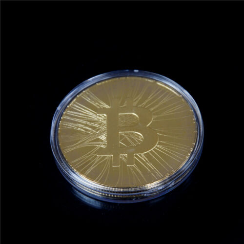 1x  Gold-plated FIRST BITCOIN ATM Commemorative Coin Collection Gift EC