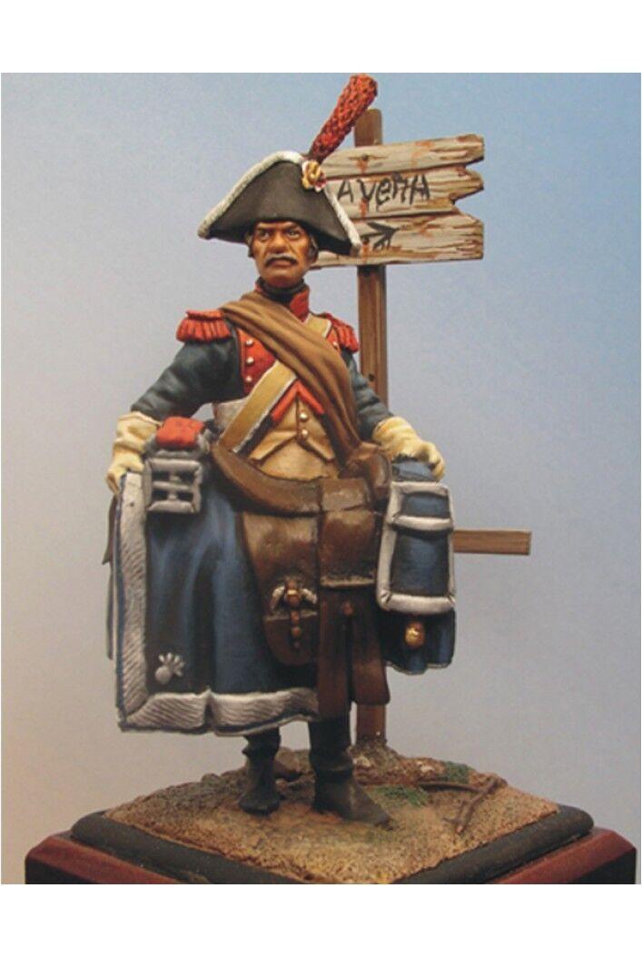 Franska gendarm från Napoleons Grand Army 54mm 1 32 Tin Målad Toy SoldierKonst