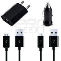 4in1 Ladegerät Ladekabel USB Micro KABEL PKW Netzteil für Samsung Galaxy S6