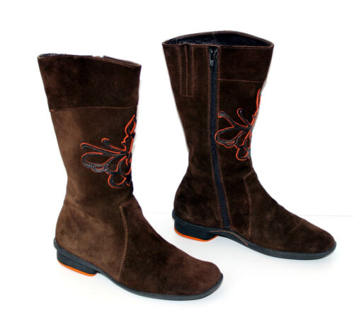 Mint condition Think Boots Stivaletti Gr Leather 36 Brown Nice Genuine wfqzHw8
