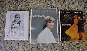 Princess Diana Princess Di Lot of 3 Books A Memorial Robert Lacey Anthony Holden