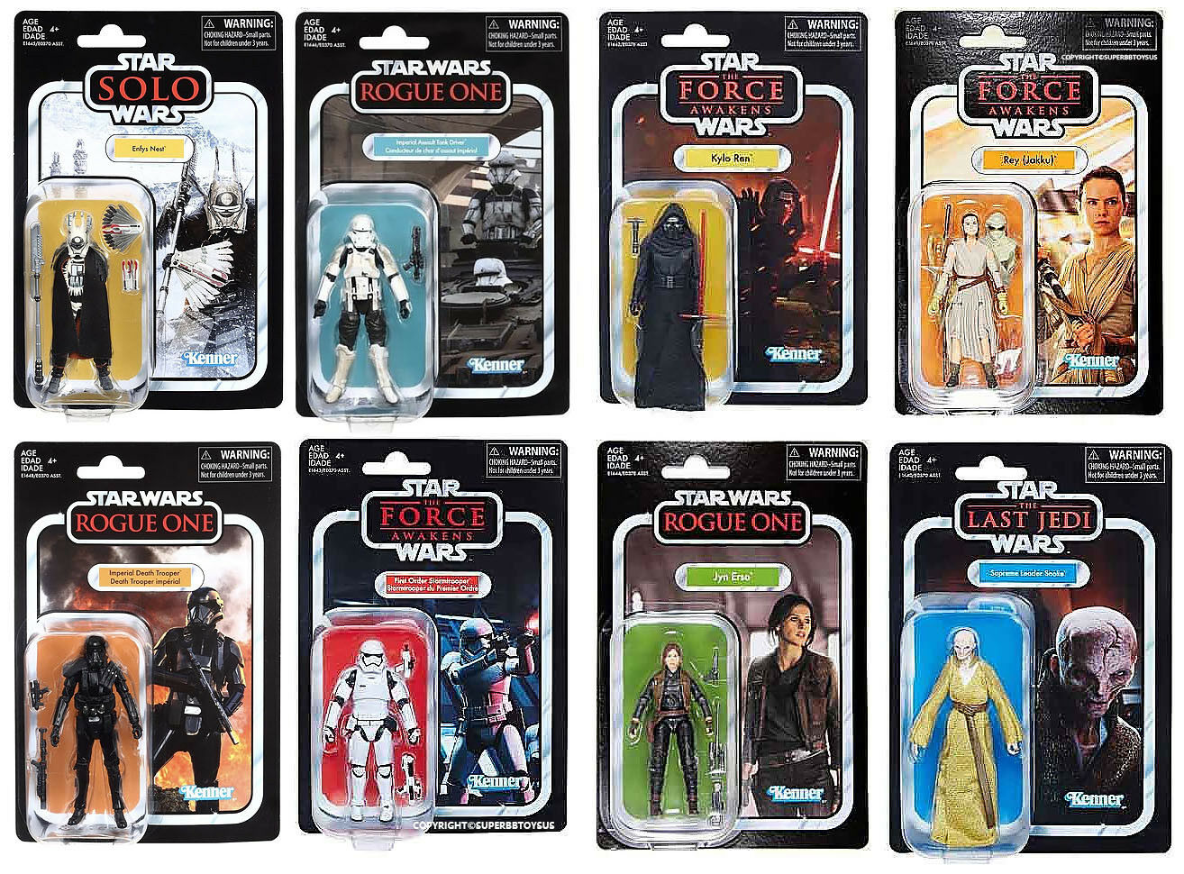 100% Hasbro Star Wars Vintage Collection 3.75  Solo Case of 8Pcs Set NEW AS02