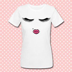 lips lashes labbra T-shirt donna Viso di bambola pretty doll face ciglia