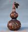 8-034-Vieille-Chine-rouge-Cuivre-Dore-prune-fleur-Bambou-Fleur-Gourdes-Vase miniature 6