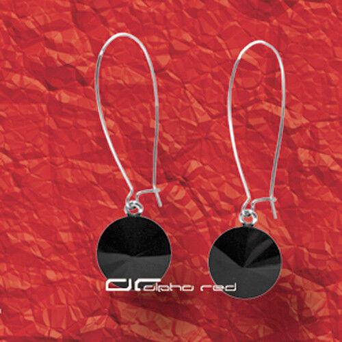 """/""""/""""/""""elegante acabado sofisticado ohrhänger aretes negro 4241"""