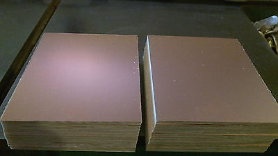 "Copper Clad Laminate Board 4 pcs    CEM-1  .060. 1 oz. Single Sided  3 3/4"" x 8"""