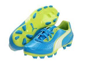 Puma v5.11 FG Soccer Shoes Blue-White