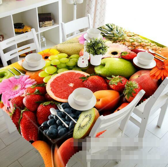 3D Tasty Fruits 3 Tablecloth Table Cover Cloth Birthday Party Event AJ WALLPAPER