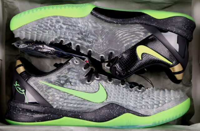 new product 2fb8c dd7cf NIKE Kobe 8 System SS sz 12 Christmas Edition Black Electric Green Gold  Grinch