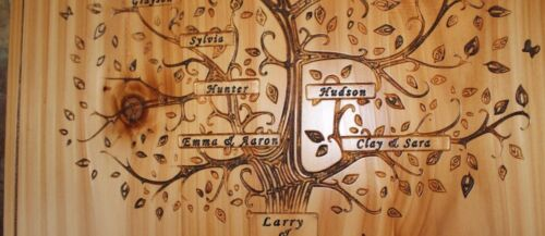 Personalized Family Tree Sign Carved Last Names Wedding Gift Anniversary Signs