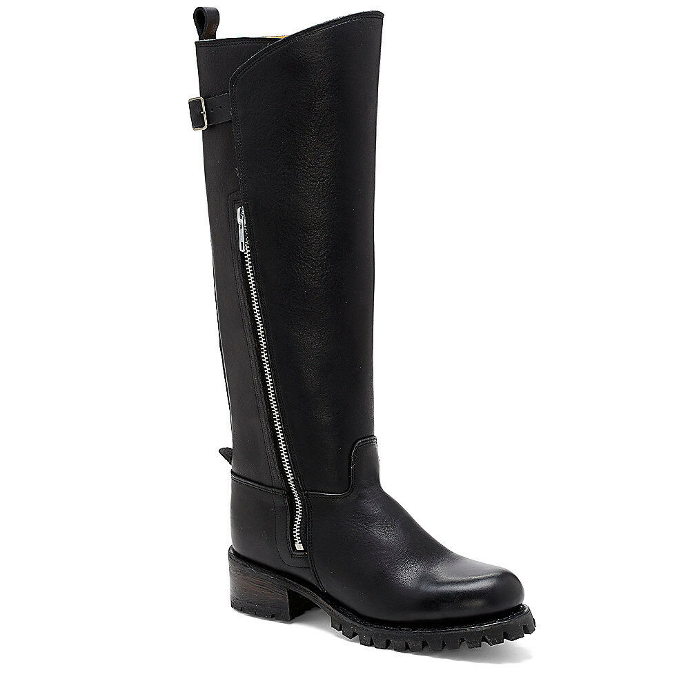 WOMENS VINCE VINCE VINCE CAMUTO Boots Niami Black Motorcycle Moto Tall Leather Riding 6  495 de511e