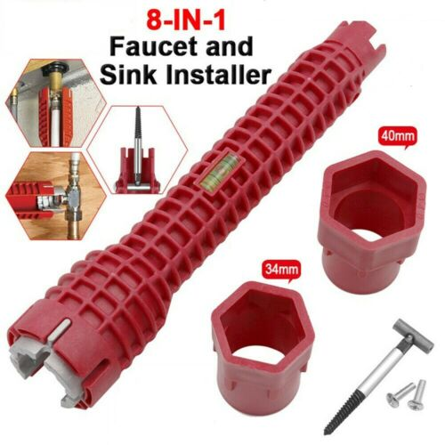 Faucet/&Sinks Installer Tool Water Pipe Wrench For Plumbers And Homeowners New