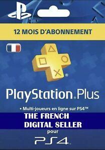 PS4-Abonnement-PlayStation-Plus-12-Mois-PS-PSN-LIRE-DESCRIPTION