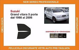pellicola oscurante vetri SUZUKI grand vitara 5p dal 1998-2006 kit posteriore