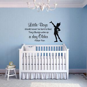 Details about Motivational Wall Sticker Little Boys Quote Vinyl Bedroom  Fairy Tale Art Decor