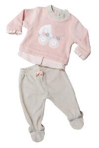 grande selezione del 2019 comprare a buon mercato aspetto estetico Dettagli su Completo neonata in ciniglia prima nascita corredino bambino  pigiama BIDIBIMBO