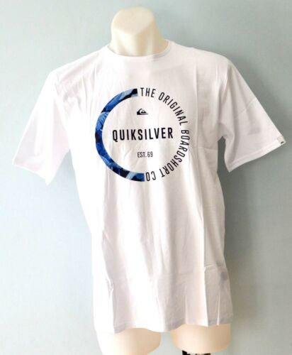 NEW Quiksilver Boys Printed T Shirt WHITE- SIZE 8,10,12,14 /& 16 YEARS