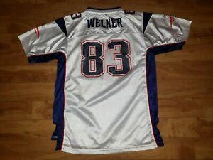 Reebok-New-England-Patriot-83-Welker-on-field-jersey-youth-size-xl-18-20