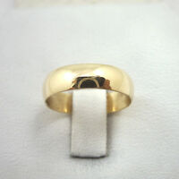 Solid 14k Yellow Gold Plain Wedding Engagement Band/ring 5mm, Sizes 3 - 15