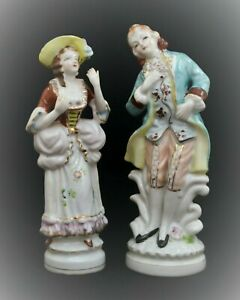 Vintage Occupied Japan Victorian Man And Woman Figurines Ebay