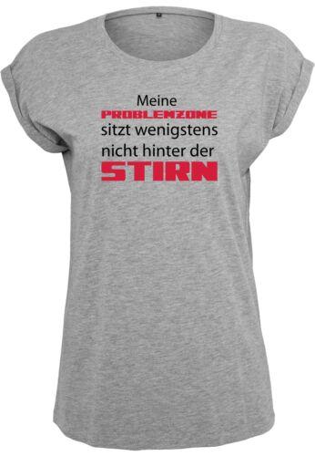 Damen T-Shirt Problemzone Extended Shoulder Tee mit Turnup Ärmeln bis Übergröße