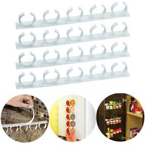 Kitchen RV Spice Gripper Clip Strip 20 Jar Rack Storage Holder Wall Cabinet Door
