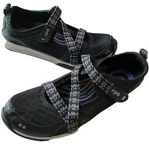Kailee Black 7.5 M Ryka Adjustable Mesh Mary Jane Sneakers