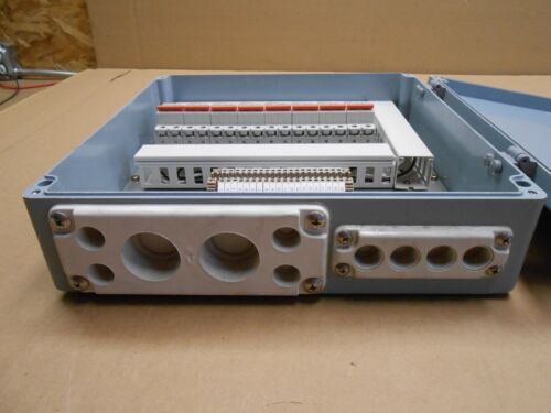 NIB 16 X 16 X 4 POWER JUNCTION BOX W// GASKETED TOP 20 POSITION DIN RAIL 4 AVAL