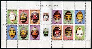 SURINAM 2014 Masken Masks Folklore Kleinbogen ** MNH