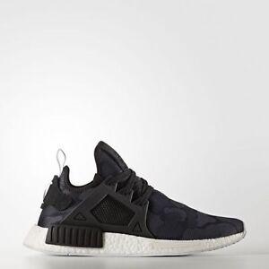 adidas-Original-NMD-XR1-Primeknit-Duck-Camo-Black-BA7231-Shoes-SZ-10