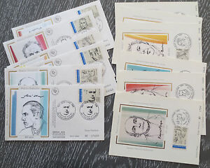 enveloppes-cartes-premier-jour-Poetes-francais