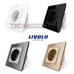LIVOLO-TOMA-CORRIENTE-SIMPLE-ENCHUFE-PARED-PANEL-CRISTAL-UE-LUXURY-POWER-SOCKET