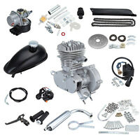 Silver Complete Kit 80cc 2-stroke Bicycle Bike Cycle Motorized Gas Engine Motor