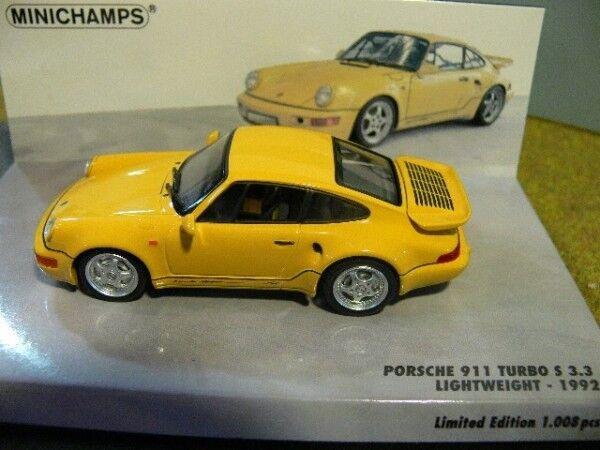 1 43 MINICHAMPS PORSCHE 911 turbo S 3.3 Lightweight Jaune 436 069170
