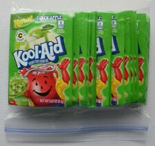 20 packets of KOOL-AID drink mix: GREEN APPLE, powdered, UNSWEETENED