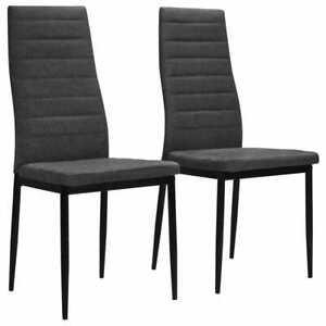 Dettagli su Sedie da Pranzo Soggiorno Cucina in Stoffa imbottite Design  Moderno Grigio