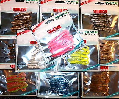 Balzer Shirasu Haruto Snake 10cm 5 Stück 12 Farben Gummifisch mit Fischöl OVP